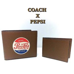Coach Pepsi Leather Wallet New